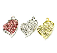 Amotaios AMO-UX124(8G) 8GB USB 2.0 Flash Pen Drive Necklace/Heart/Crystal