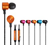 BEBONCOOL™  Metal Stereo Headset  with Mic and Volume Control for Iphone/HTC/Samsung/Huawei , Headphone(Mixed Colors)