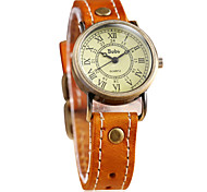 Women's Vintage Roman Numerals Leather Guartz Wrist Watch(Assorted Colors)