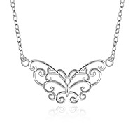 Fashion Butterfly Modelling Silver Plated Necklace