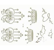 1pc plata tatuaje impermeable etiqueta 19.5x14.5cm