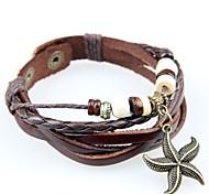 Bracelet Bracelets de rive Bracelets de tennis Bracelets d'amitié Bracelets Bracelets Vintage Bracelets en cuir Alliage Cuir BoisSoirée