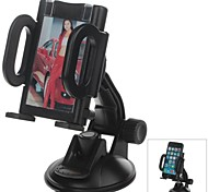 H80 360 Degree Rotation Suction Cup Holder with C38 4.3~5.5 Inch Back Clip for iPhone4, 5, 5s (Black)