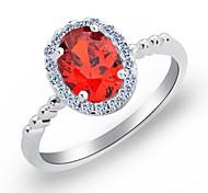 Fashion Fine Oval Crystal Rings