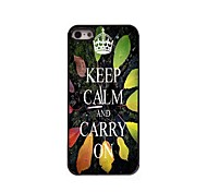 Keep Calm and Carry On Design  Aluminum Case for iPhone 5/5S