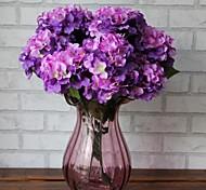 6 tête haute qualité grande fleur d'hortensia fleur de simulation