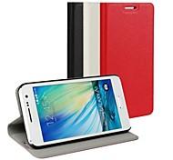 Pour Samsung Galaxy Coque Avec Support Clapet Coque Coque Intégrale Coque Couleur Pleine Cuir PU pour Samsung A3