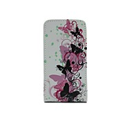 Black and Pink Butterfly  Bracket Up And Down Open PU Leather Full Body Case for Nokia Lumia 620