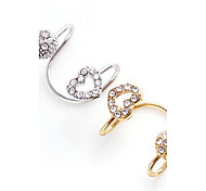 ne aime poignets d'oreille de diamant de trous