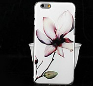 Fashion Painted Relief Magnolia PC Back Cover for iPhone 6