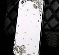 Fashion Flowers Transparent PC Hard Cases with Rhinestone for Huawei Honor 6