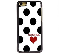 Personalized Case Elegant Dots Design Metal Case for iPhone 5C