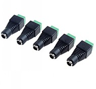 5.5 x 2.1mm CCTV DC Power Sockets Adapter(5-Pack)