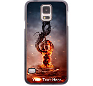 Personalized Phone Case - Music in Fire Design Metal Case for Samsung Galaxy S5 I9600