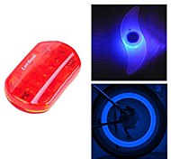 FJQXZ Waterproof Red Cycling Warning Tail Light and 2 PCS Blue Bike Spoke Light Set