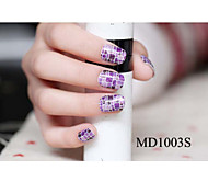 14PCS Fashion Glitter Powder Nail Art Stickers MD Series NO.1003S