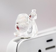 1Pcs Cute Small Snail 3.5mm Anti-dust Plug for iPhone 6 and Others