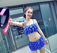 Ymeishan Women's Sweet Girl Style Push-up Swim Dress Bikini Swimming Suit