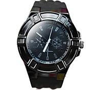 Men's Fashion Waterproof Silicon Band Quartz Wrist Watch (Assorted Colors)