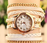 Women's 2015 The Latest Fashion  Chained  Leather  Quartz Watch Hot Sale(Assorted Colors)
