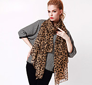 Women's Large Size Leopard Long Scarves