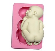 3D Baby Sugar Fondant Mold Cake Modeling Decorating Mould Silicone Baby Mold For Cake Chocolate
