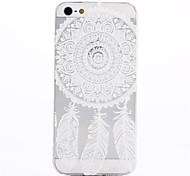 Funda Trasera - Diseño Especial/Transparente/Ultrafina/Diseñada en China/Flor/Atrapasueños - para iPhone 5/iPhone 5S ( Multicolor , TPU )