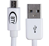 BTY W108 USB Male to Micro USB Male Data / Charging Cable for Samsung / HTC / Sony and More (100cm)