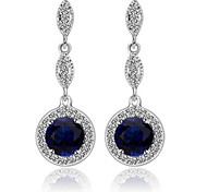 High Quality Women Long Drop Earrings Lady 10KT White Gold Filled Earring AAA Zircon Fashion Jewelry For Party