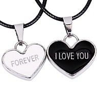 Tina -- Fashion Alloy Black and White Couple Pendant Necklace in Party