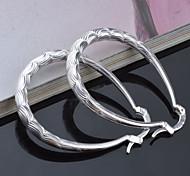 Stud Earrings Jewelry Women Silver 2pcs Silver