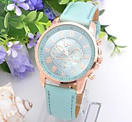 Women's Double Surface Color Round Belt China Movement Watch(Assorted Colors)