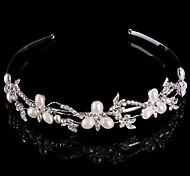 Luxurious Bridal Crown Silver Tiara Queen Flower Crystal/Diamond Pearls Flower Hairclips Headpiece For Wedding/Party