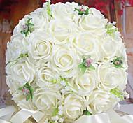 un bouquet di 30 rose pe simulazione wedding bouquet di nozze della sposa azienda fiori, bianchi