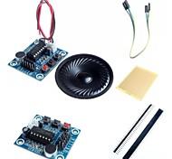 Modulo registrazione del suono audio isd1820 w / microfono / altoparlante e accessori per arduino