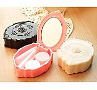 european estilo vintage lentes de contacto recipientes portáteis caso (cor aleatória)