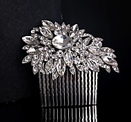 Wedding Bride Flower Austria Rhinestone Silver Combs Hair Accessories
