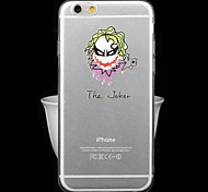 Fashion Ultra-Thin Transparent Cartoon Series The Joker TPU Soft Back Cover for iPhone 6
