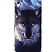 Fashion Cartoon Painted Wolf PC Back Cover for Sony Xperia Z3