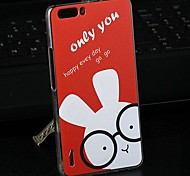 Fashion Cartoon Painted Rabbit PC Back Cover for Huawei Honor 6