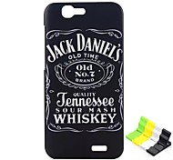 Jack Daniels Pattern PC Hard Back Cover Case and Stand for Huawei Ascend G7(4G)