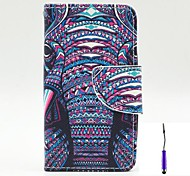 The African Elephant Pattern PU Leather Case Cover with A Touch Pen ,Stand and Card Holder for Nokia Lumia 530