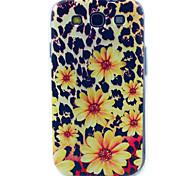 fleurs léopard jaune TPU doux pour les Samsung Galaxy S i9300
