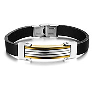 Z&X®  Men's Fashion  Leather Titanium Steel Bracelet
