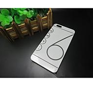Cubierta Posterior - Color Sólido - para iPhone 6 ( Negro/Gris/Oro , Plástico )