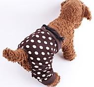 Кошка Собака Брюки Одежда для собак Косплей Свадьба Горох Коричневый