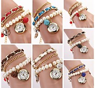 Women's Hang Bow Bracelet Watch New Pearl Series  Watches(Assorted Colors) C&D-135