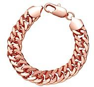 Chaînes & Bracelets 1pc,Or Rose Bracelet Cuivre / Plaqué Or Rose Bijoux Femme
