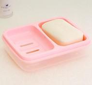 doce cor dupla caixa de sabão caixa à prova d'água (cor aleatória)