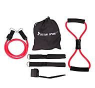 Women's 6pc Set of Fitness Elastic Rope for Strength Training